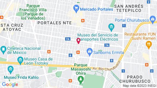 Holiday Inn Mexico Coyoacan Map
