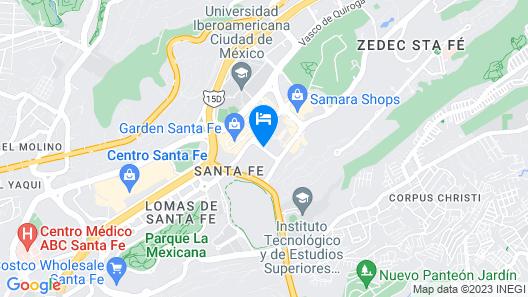 DoubleTree by Hilton Hotel Mexico City Santa Fe Map