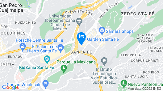 Holiday Inn Express Mexico Santa Fe Map