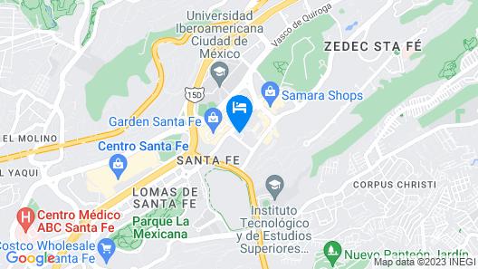 Hilton Garden Inn Mexico City Santa Fe Map