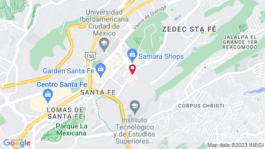 The Westin Santa Fe, Mexico City Map