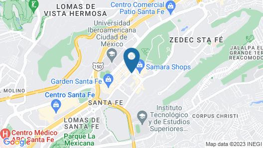 JW Marriott Hotel Mexico City Santa Fe Map