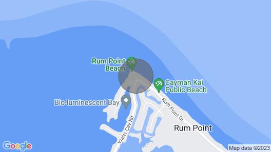 Upscale Retreat 21, Beachfront Executive Condo, Rum Point Map