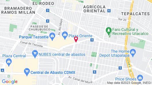 Krystal Urban Aeropuerto Cd de Mexico Map