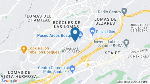 Live Aqua Urban Resort México Map