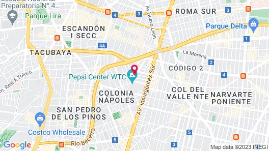 Crowne Plaza Hotel de México Map