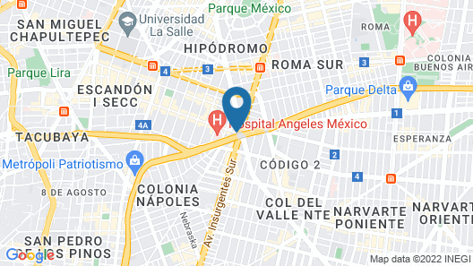 Fiesta Inn Insurgentes Viaducto Map