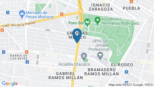 Holiday Inn Express Mexico Aeropuerto Map