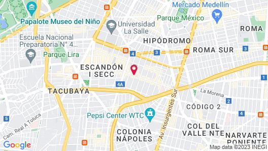 Kali Escandon Mexico City Map