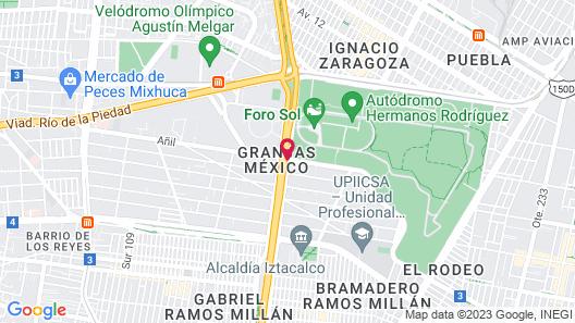 Hotel Grand Prix Aeropuerto CDMX Map