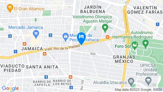 Fiesta Americana Viaducto Aeropuerto Map
