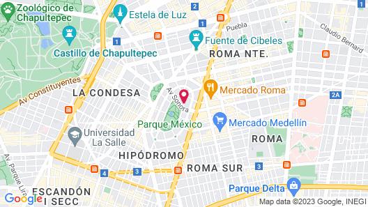 Hippodrome Hotel Condesa Map