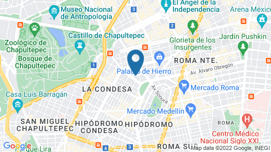 Hotel Villa Condesa Map
