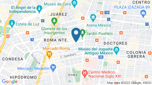 Four Points by Sheraton Mexico City, Colonia Roma Map