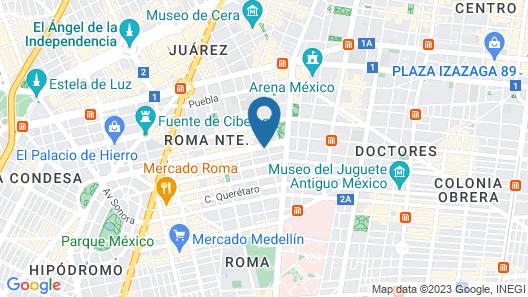 Hotel Monarca Map