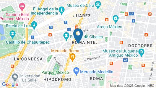 La Valise Mexico City Map