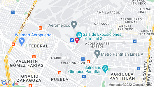 NH Collection Mexico City Airport T2 Map