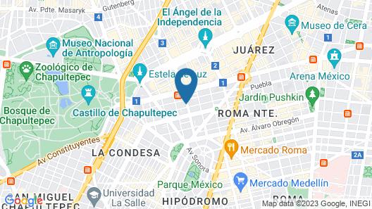 Hotel MX condesa Map