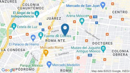 Hotel MX roma Map