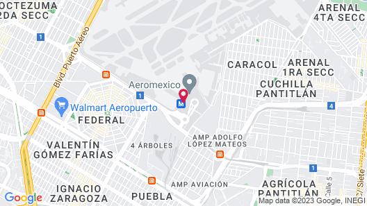 izZzleep Aeropuerto Terminal 2 Map