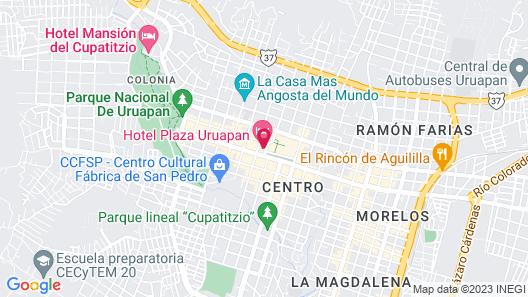 Hotel Plaza Uruapan Map