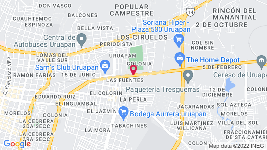 Holiday Inn Uruapan Map