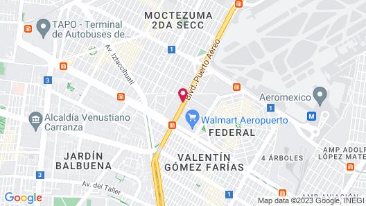 City Express Ciudad de Mexico Aeropuerto Map