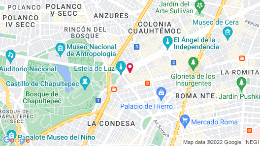 Four Seasons Hotel Mexico City Map