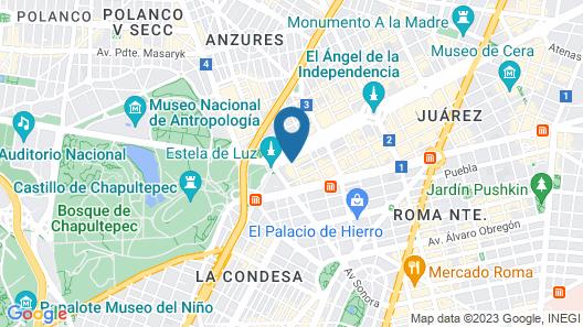 Four Seasons Hotel Mexico City Map