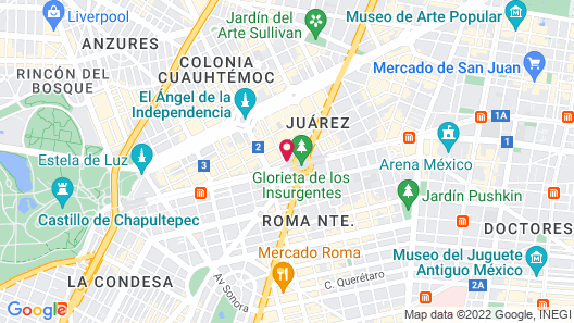 Hotel Royal Reforma Map