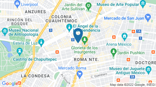 NH Collection Mexico City Reforma Map