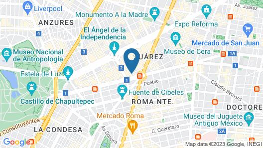 Hotel Century Zona Rosa México Map