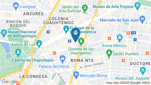 Hotel Suites Amberes Map