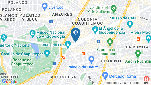 Marquis Reforma Hotel Spa Map