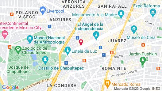 The St. Regis Mexico City Map