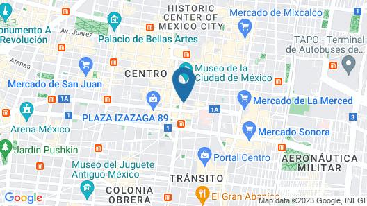 Hotel Parque Centro Map