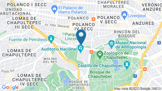 JW Marriott Hotel Mexico City Map
