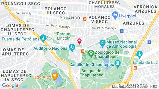 Hyatt Regency Mexico City Map