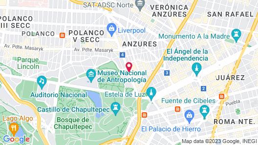 Camino Real Polanco Mexico Map