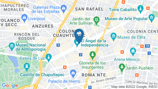Sheraton Mexico City Maria Isabel Hotel Map