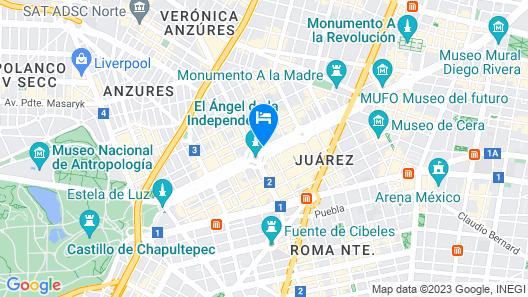 Sheraton Mexico City Maria Isabel Hotel Map