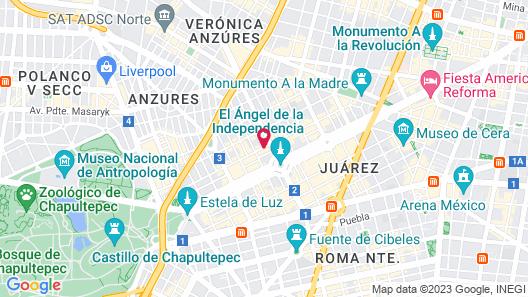 Suites Del Angel Map