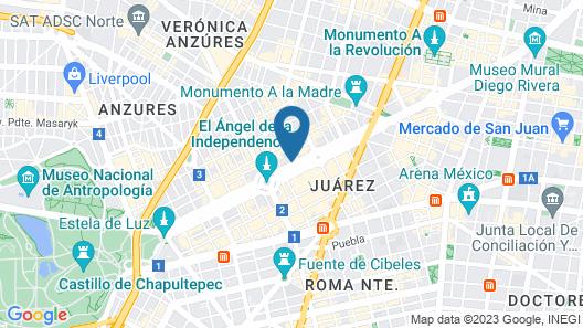 Sofitel Mexico City Reforma Map