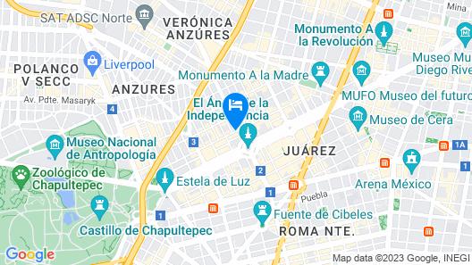 Hotel del Angel Map