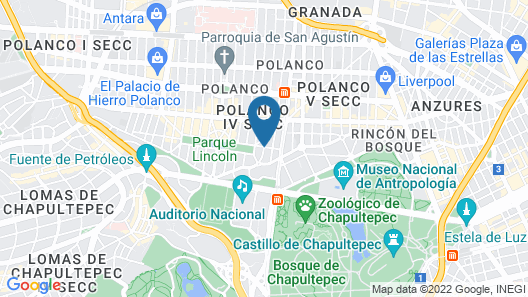 FlowSuites Polanco Apartments Map