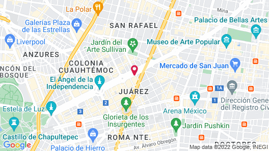 Holiday Inn Express Mexico-Paseo De La Reforma Map