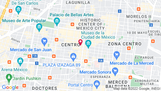 Hampton Inn & Suites Mexico City - Centro Historico Map