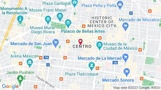 Hotel Punto MX Map