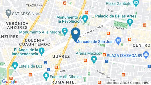Hotel El Ejecutivo by Reforma Avenue Map