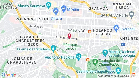 Las Alcobas, a Luxury Collection Hotel, Mexico City Map